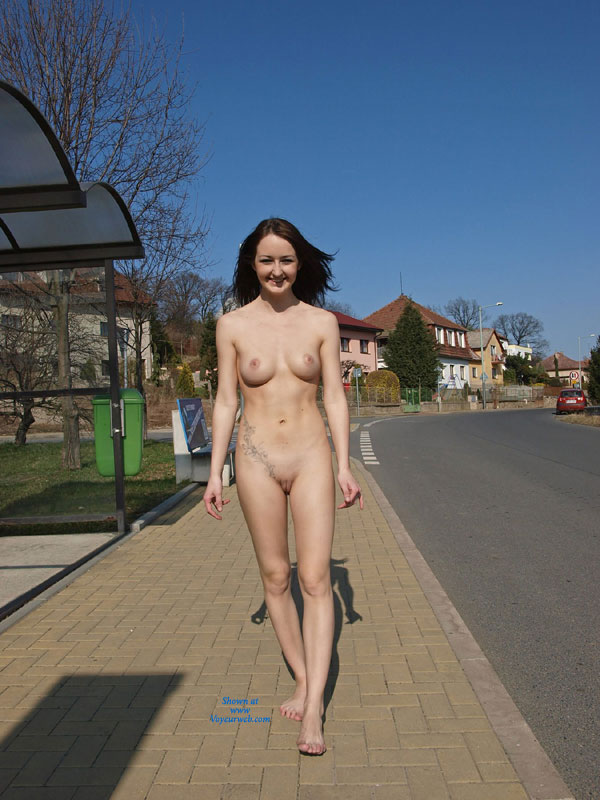 Pic #1 - Nude Girl:*MFF On The Bikers Trail , Walking Naked On A Bikers Trail