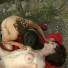 *MFF Mature Couple With Girl In A Outdoor 3some 4