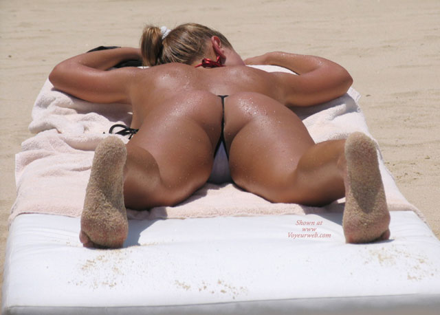 Pic #1 - String Bikini - G String , String Bikini, Sandy Feet, Covered In Sand, Ass On Beach, Thong On Beach, G-string, G String
