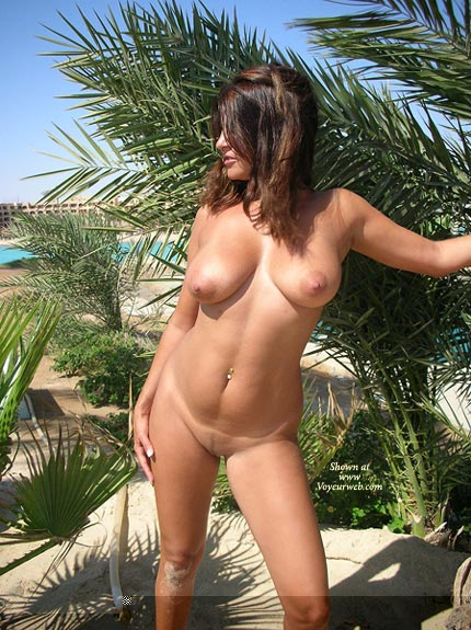 Pic #1 - Naked At The Beach - Big Tits, Exposed In Public, Full Nude, Hairy Pussy, Standing , Naked At The Beach, Just Getting A Tan, Hairy Pussy, Fully Naked, Standing, Big Boobs