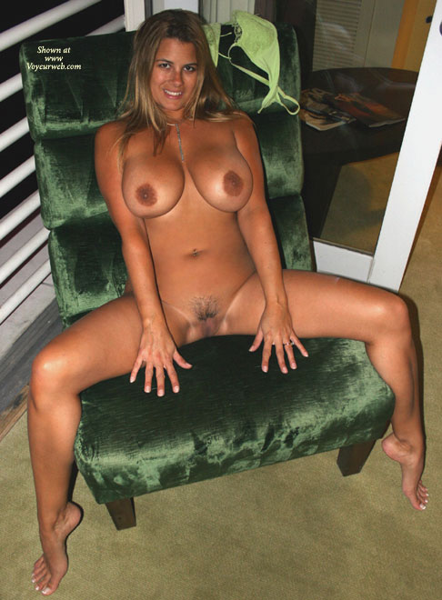 Pic #1 - Spread Legs - Big Tits, Blonde Hair, Spread Legs , Spread Legs, Pussy Shot, Smiling Blond, Big Boobs, Naked On Chair, Full Frontal Nude, Full Bust Blonde, Big Tits, Legs Spread