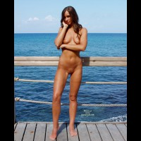 Naked At The Seaside - Nude In Public, Smiling