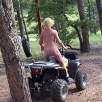 Naked in Colorado - Blonde Hair, Exposed In Public, Nude Outdoors, Shaved, Small Tits