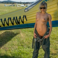 Airstrip , Wow, I Did It! My First Experiment Nude In Public :-)