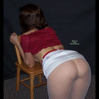 Bent Over Chair - Dark Hair, Milf