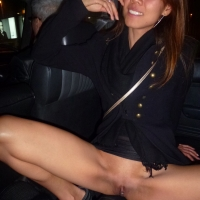 Flashing Pussy in The Taxi and Bars in Hong Kong