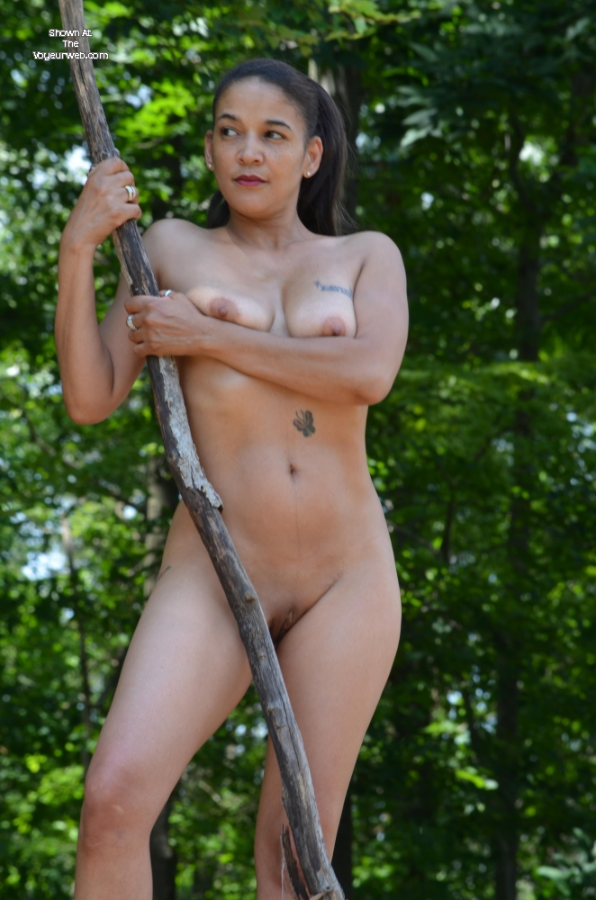 Pic #1 - Silver in The Forest , Monet Shows Off Her Microbikini In The Woods