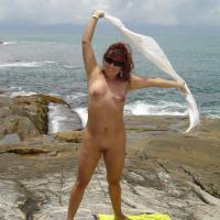 My Wife Beatrice on Beach Again - Nude Wives