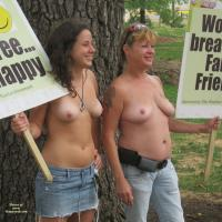 Go Topless Day - Big Tits, Public Place