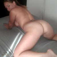 On The Bed Fooling Around - Big Ass, Big Tits, Blonde, Striptease