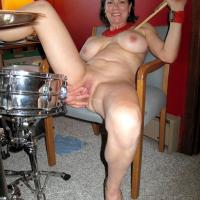 Drums - Big Tits, Brunette, Blowjob, High Heels Amateurs, Lingerie, Mature