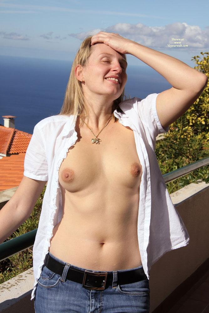 Pic #1 - Bri is Back Again - Big Tits, Blonde Hair, Nude Outdoors, Dressed , Long Time No See! 