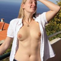 Bri is Back Again - Big Tits, Blonde, Outdoors, Dressed