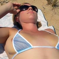 Michigan Beach - See Through, Beach, Bikini Voyeur, Shaved