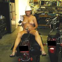Kitten on The Bike - Big Tits, High Heels Amateurs, Mature