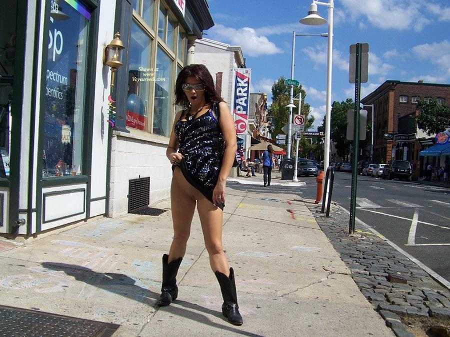 Pic #1 - Around Philly Again - Exposed In Public, Flashing, Nude In Public , Out For A Day Of Flashing And Fun Around Town Last Weekend. We Had A Great Time.  If You Recognize Us, Say Hi. Maybe We'll Let You Play Too.