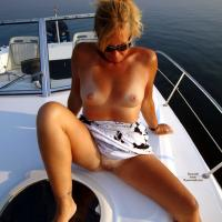 Naked Day on The Boat - Big Tits, Shaved