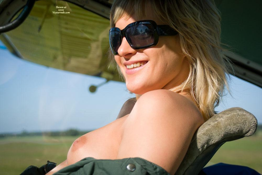 Pic #2 - Airplane - Outdoors, Blonde, Dressed, Small Tits