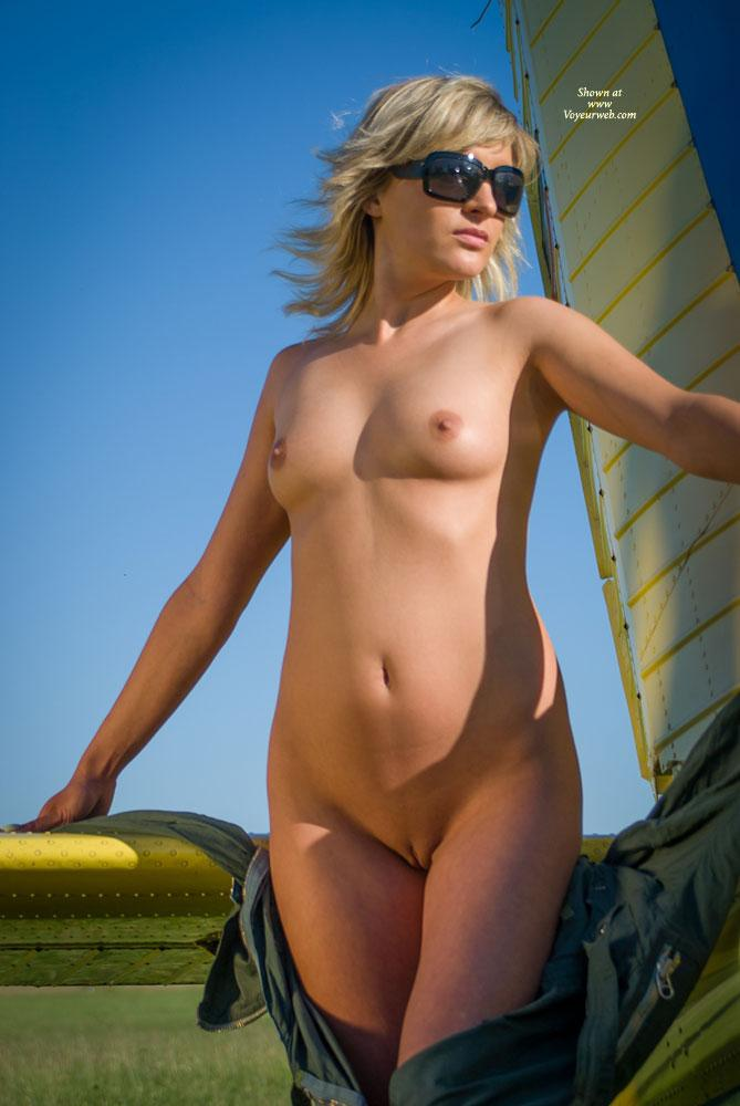 Pic #10 - Airplane - Outdoors, Blonde, Dressed, Small Tits