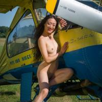 Airplane - II - Small Tits, Dressed, Flashing, Asian