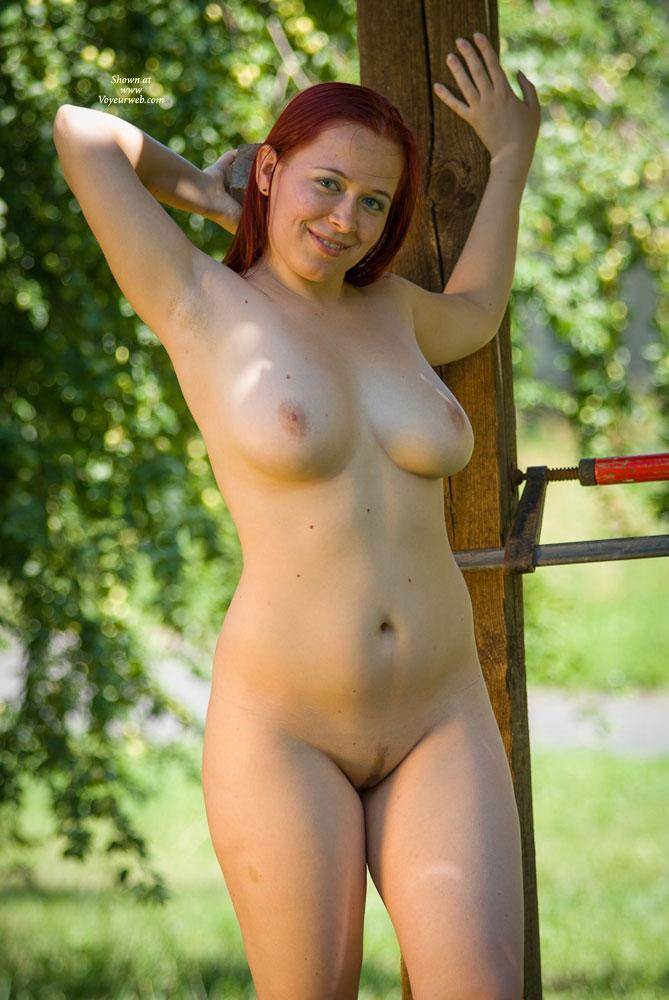 "Pic #1 - Blue Eyes - Big Tits, Nude In Public, Nude Outdoors, Redhead , She Was That ""white Skinned"" Girl With Lin In The Pool, Who Some Guys Wanted To See A Little Closer..."