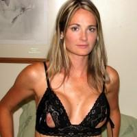 Girlfriend In Cutout Bra Exposing Her Nipples - Blonde Hair, Erect Nipples, Long Hair, Perky Nipples, Naked Girl, Sexy Lingerie