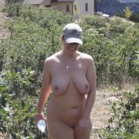Athena Hiking - Big Tits, Outdoors