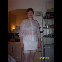 See Thru Top And Short Skirt