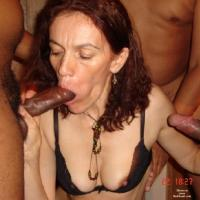 AndreaSex In Bukkake - Group, Blowjob, Girl On Guy