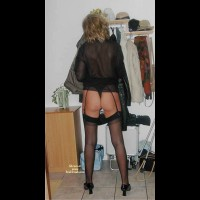 Lady In Black Nylons