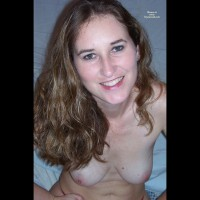 Green Eyed Topless Brunnette - Brown Hair, Long Hair, Topless, Naked Girl, Nude Amateur