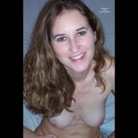 Green Eyed Topless Brunnette - Brown Hair, Long Hair, Topless, Naked Girl, Nude Amateur