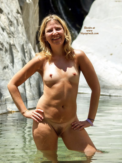 Pic #1 - Nude In Water - Blonde Hair, Firm Tits, Hard Nipple, Long Hair, Naked Girl, Nude Amateur, Nude Wife , Knee Deep Water, Nipples Standing At Attention, Pleasant Smile, Perky Nipples, Hairy Pussy, Waiting Naked, Blond, Outdoor Bathing