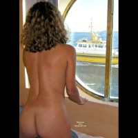 Boat Passing - Blonde Hair, Dark Hair, Naked Girl, Nude Amateur