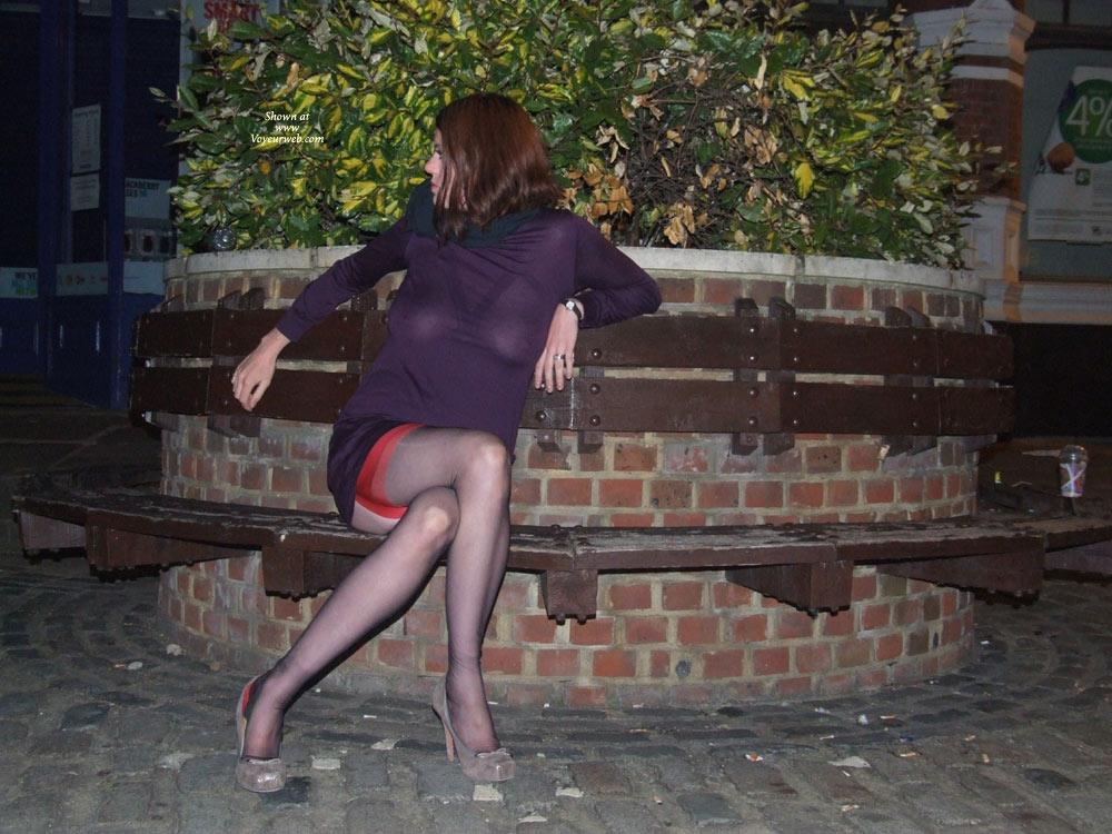 Pic #8 - Scarlet Cat Seethrough Dress - Stockings and Heels! - Public Exhibitionist, Public Place, See Through