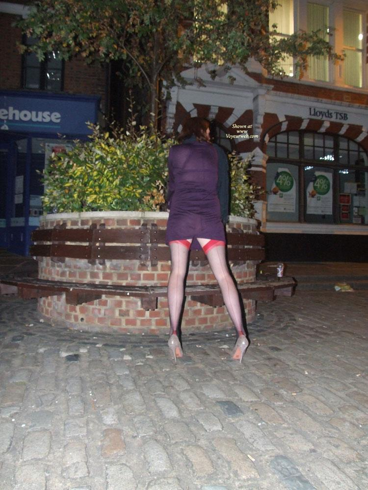 Pic #10 - Scarlet Cat Seethrough Dress - Stockings and Heels! - Public Exhibitionist, Public Place, See Through