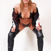 Susy Rocks...In Leather