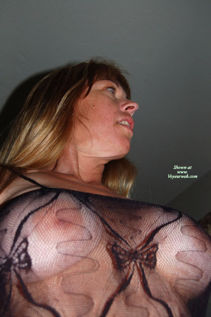 Pic #1 - Sexy Breasts Through Transparent Blouse - Blonde Hair, Long Hair, See Through , Twin Peaks, Body Stocking Up Look, Large Boobs, Fishnet Tits, Fishnet Body Stocking Breast View, Looking Away From Camera, Large Areola, Big Boobs, Nipples Through Bodystocking, Sheer Top, Black See Through Mesh Top, Black See Through Top, Negligee