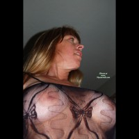 Sexy Breasts Through Transparent Blouse - Blonde Hair, Long Hair, See Through