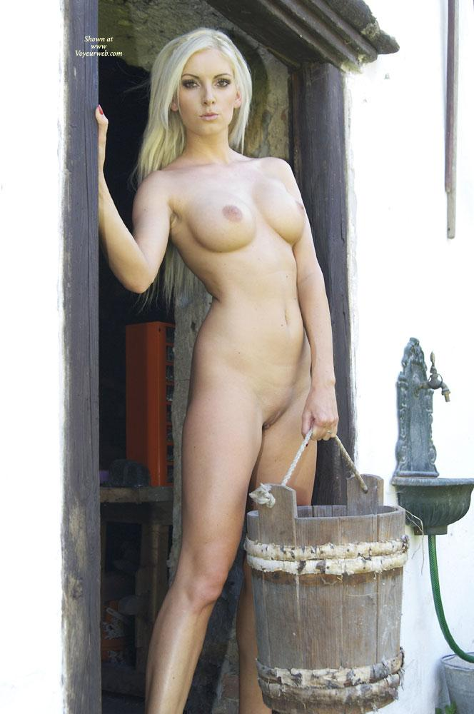 Pic #1 - Need Milk? - Big Tits, Blonde Hair, Nude Outdoors, Shaved , Sexy Bianca Is Posing At An Old Farm....
