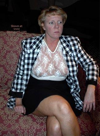 Pic #1 - Rhonda Flashing In Hotel Lobby