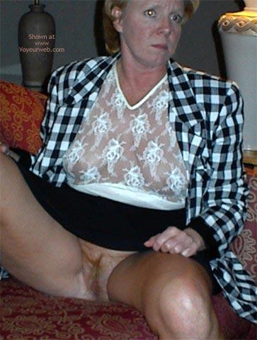 Pic #7 - Rhonda Flashing In Hotel Lobby