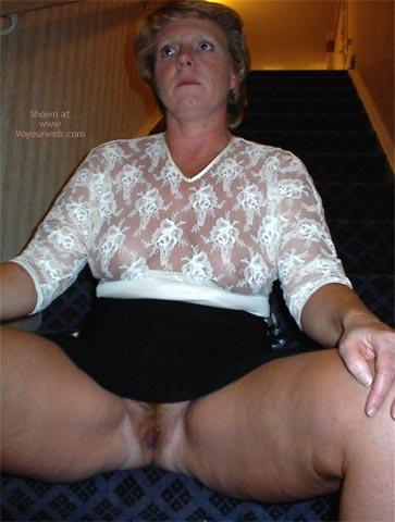 Pic #8 - Rhonda Flashing In Hotel Lobby