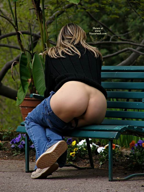 Pic #1 - Milf Exposing Hot Ass On Park Bench - Flashing, Milf , Mature Milf, Flashing Ass On A Park Bench, Butt Shot On A Bench, Facing Away, Pretty Ass On A Bench, Ass Naked, Pants Below The Ass, Hot Milf Ass, Sittting On Park Bench