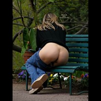 Milf Exposing Hot Ass On Park Bench - Flashing, Milf