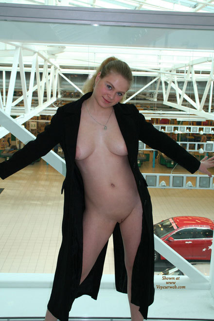 Pic #1 - Nude Shopping - Flashing, Pale Skin, Shaved Pussy, Naked Girl, Nude Amateur , Pale Skin, Round Face, Out And Sexy, Naked Shopping, Large Tits, Nude On Ramp, Flashing In A Knee-length Black Coat, Dd Breasts