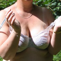 Outdoor Mature Striptease