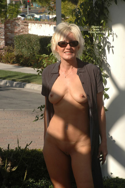 Pic #1 - Frontal Nude Outdoors - Blonde Hair, Erect Nipples, Long Hair, Milf, Nude In Public, Shaved Pussy, Sunglasses, Naked Girl, Nude Amateur , Nude Milf, Long Open House Dress, Long Erected Nipples, Naked Under Long Dress, Public Show, Belly Ring, Nude Blonde In Sunglasses