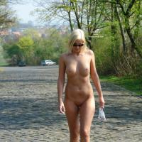 Yasmins First Try - Big Tits, Blonde Hair, Exposed In Public, Nude In Public