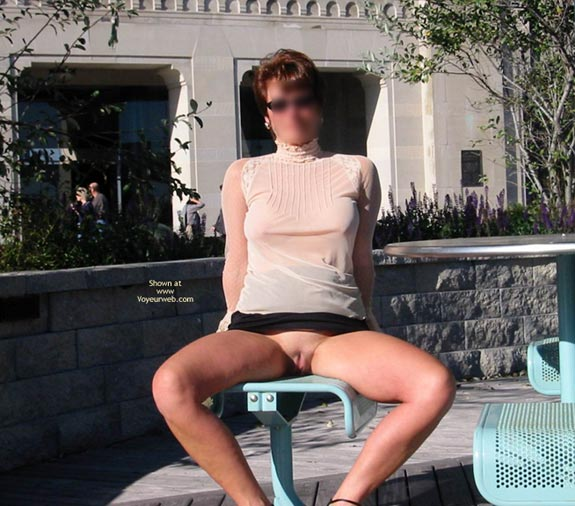 Pic #7 - Renee - Transparent Blouse In Public